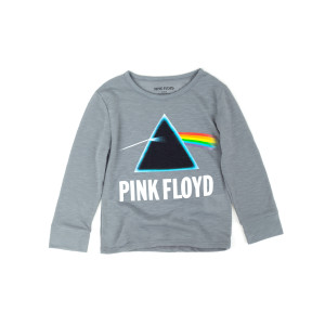 Black Pink Floyd Toddler Girls Long Sleeve Top