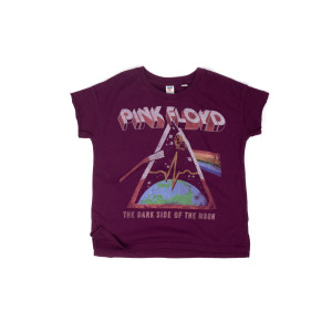 The Dark Side Of The Moon Kids Maroon T-Shirt