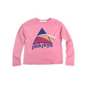 Pink Floyd The Dark Side of the Moon Glitter Prism Pink Kids Longsleeve T-Shirt