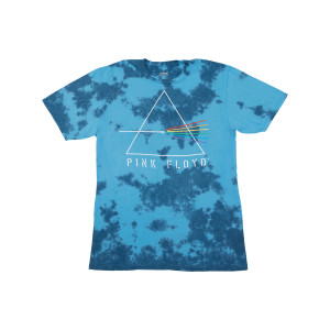 Pink Floyd Dark Side of the Moon Blue Tie Dye T-Shirt
