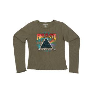 Pink Floyd Splatter Longsleeve Juniors T-shirt