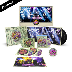 Nick Mason's Saucerful of Secrets Live at the Roundhouse Limited Edition Signed Poster + Round Logo Magnet + Choice of Media Bundle
