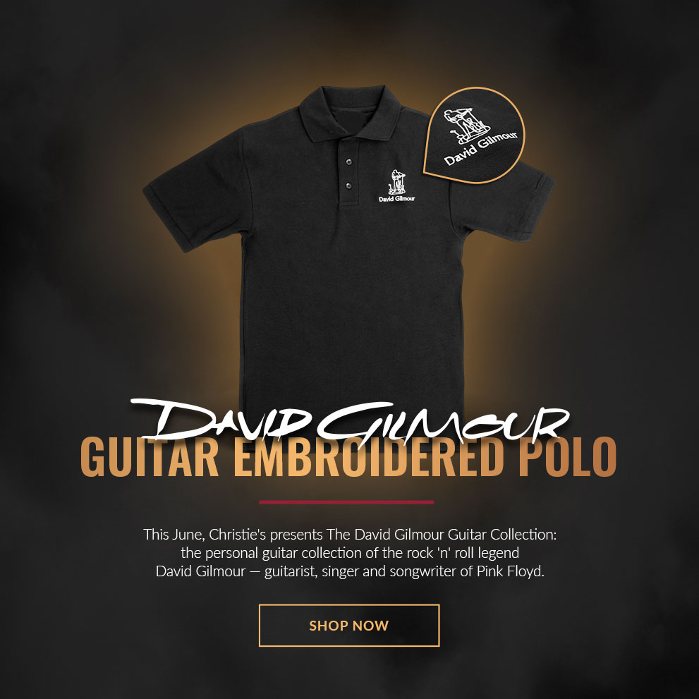 DAVID GILMOUR GUITAR EMBROIDERED POLO