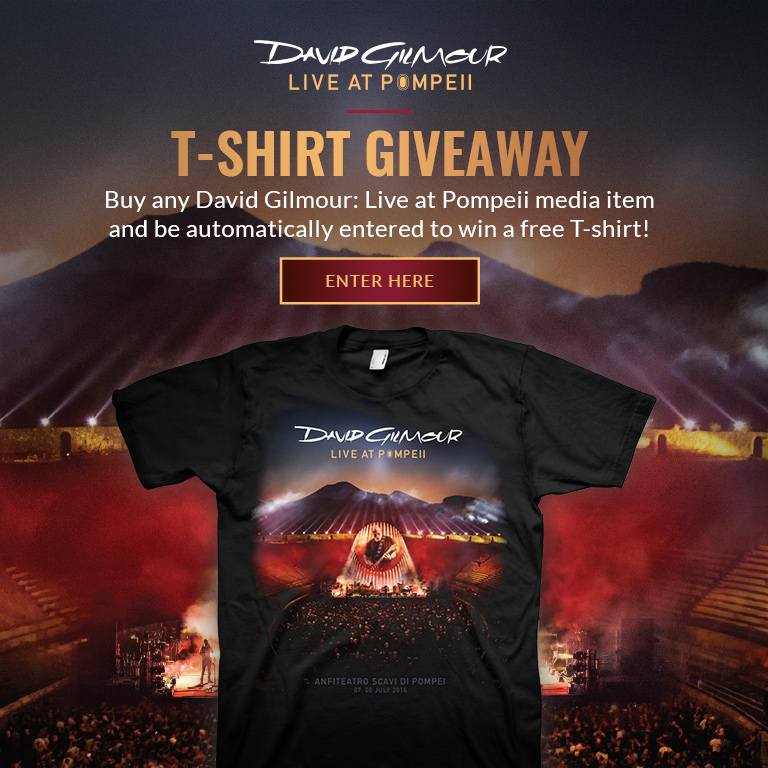 Live At Pompeii T-Shirt Giveaway