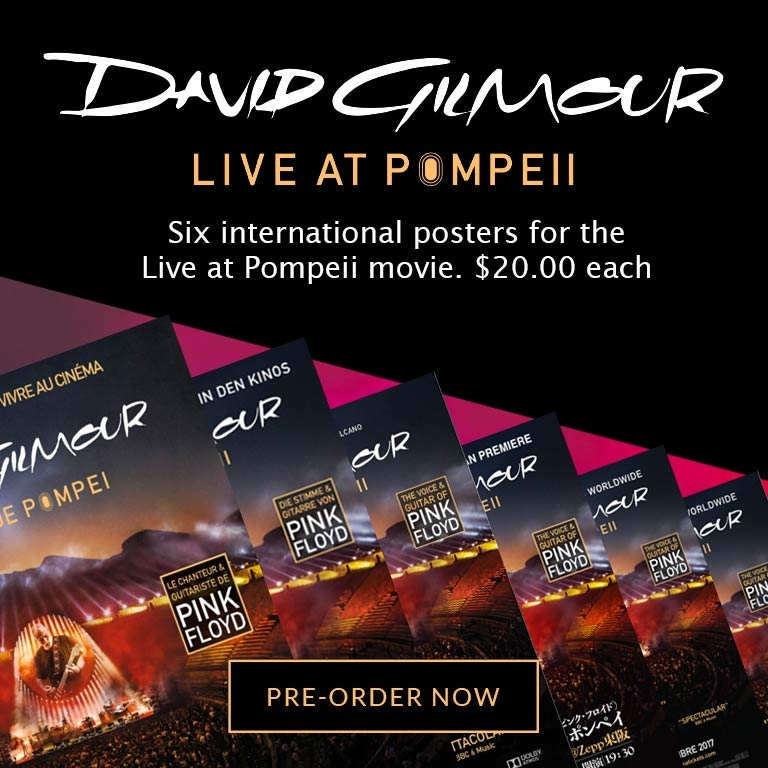 Live At Pompeii Movie Posters