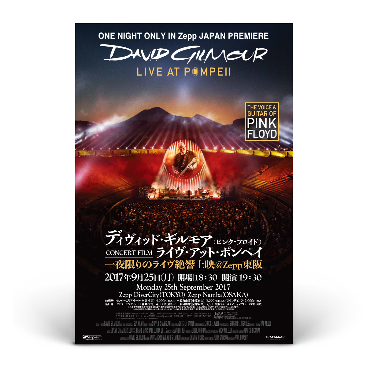 David Gilmour Live at Pompeii Official Movie Poster - Japanese
