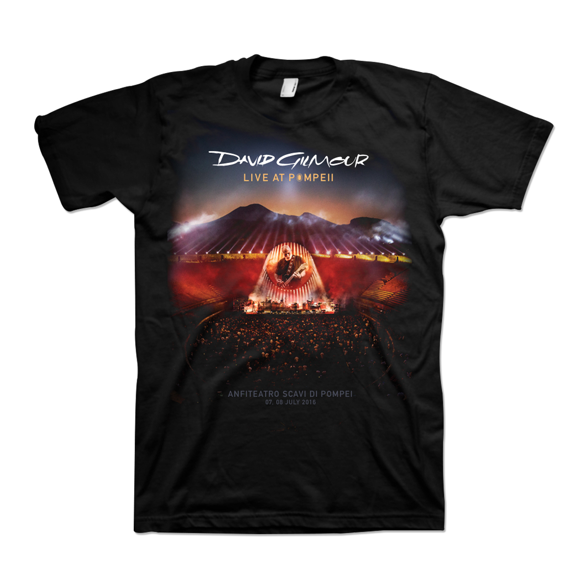 David Gilmour Live At Pompeii Double Sided Set List Tee