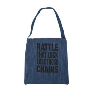 Rattle That Lock Denim Tote Bag