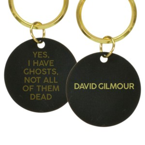 Ghosts Laser Engraved Print Logo Brass Keychain