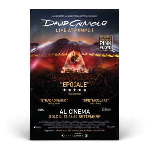 David Gilmour Live at Pompeii Official Movie Poster - Italian