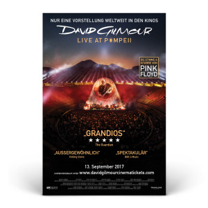 David Gilmour Live at Pompeii Official Movie Poster - German