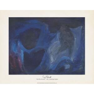 Dark Blue Abstract 11x14