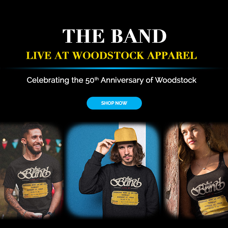 The Band Live at Woodstock Apparel