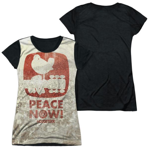 Woodstock PERCHED Licensed Juniors Cap Sleeve T-Shirt