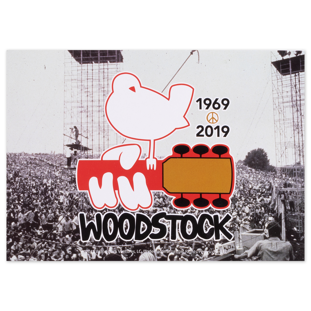Woodstock Stage/Crowd Post Card