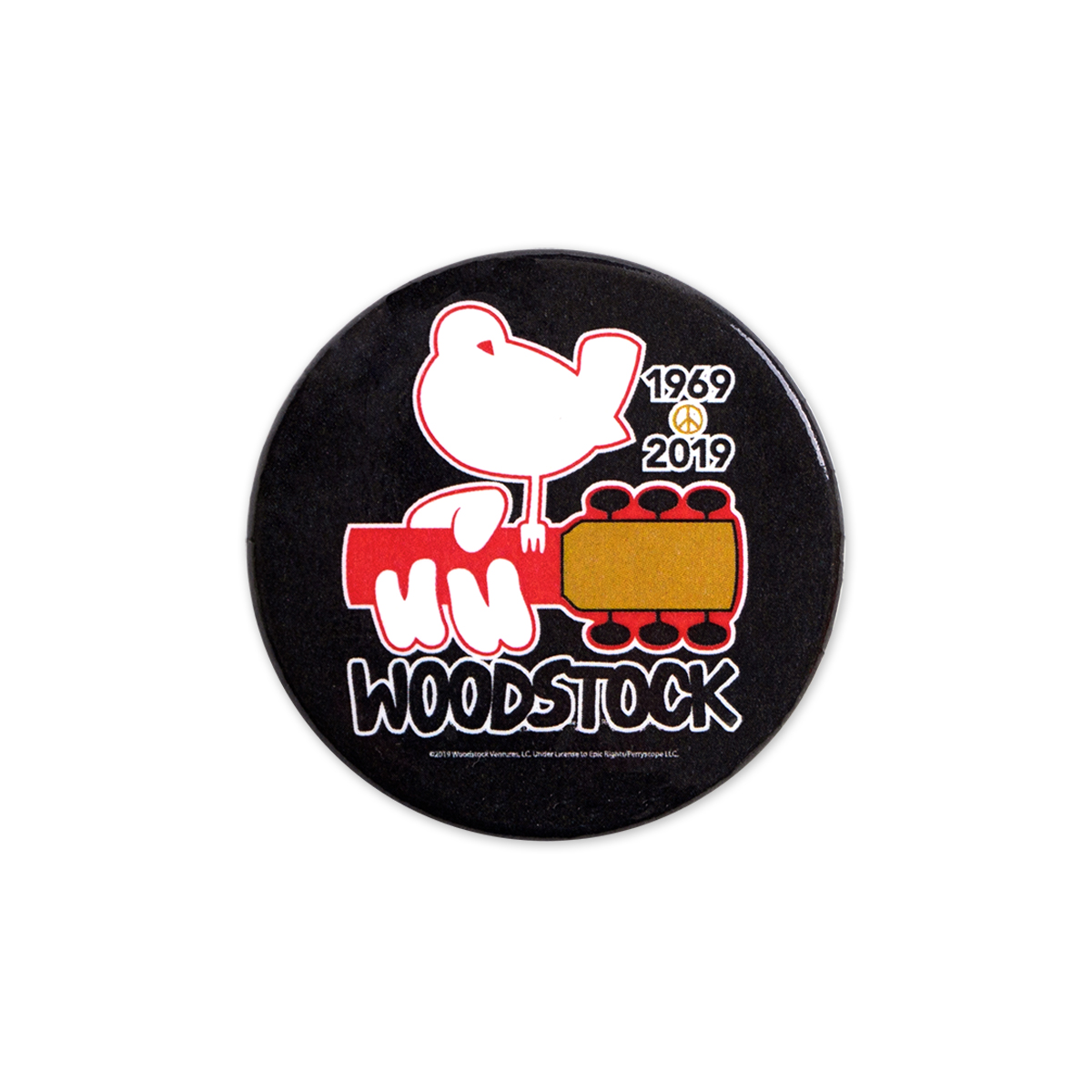 Woodstock 50th Anniversary Black Pin