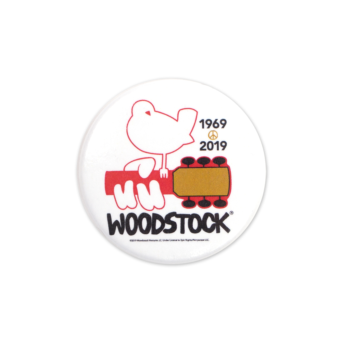 Woodstock 50th Anniversary White Pin