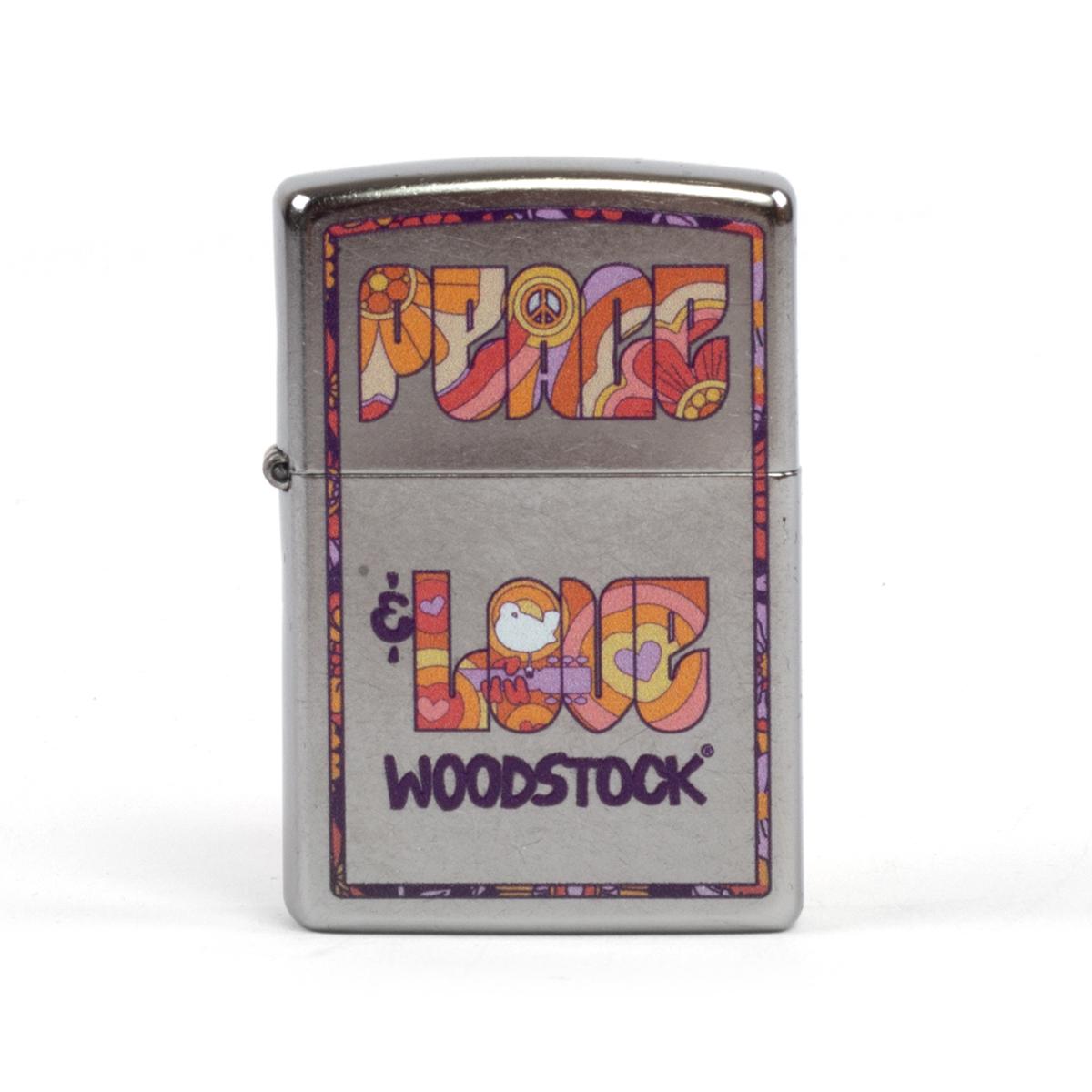 Woodstock Peace & Love Tie Dye Zippo