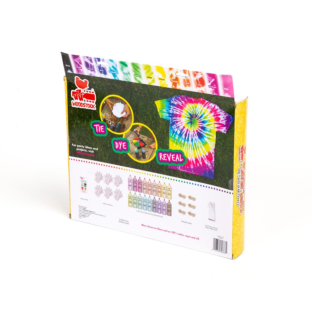 Woodstock Peace & Love Tie Dye Party Kit
