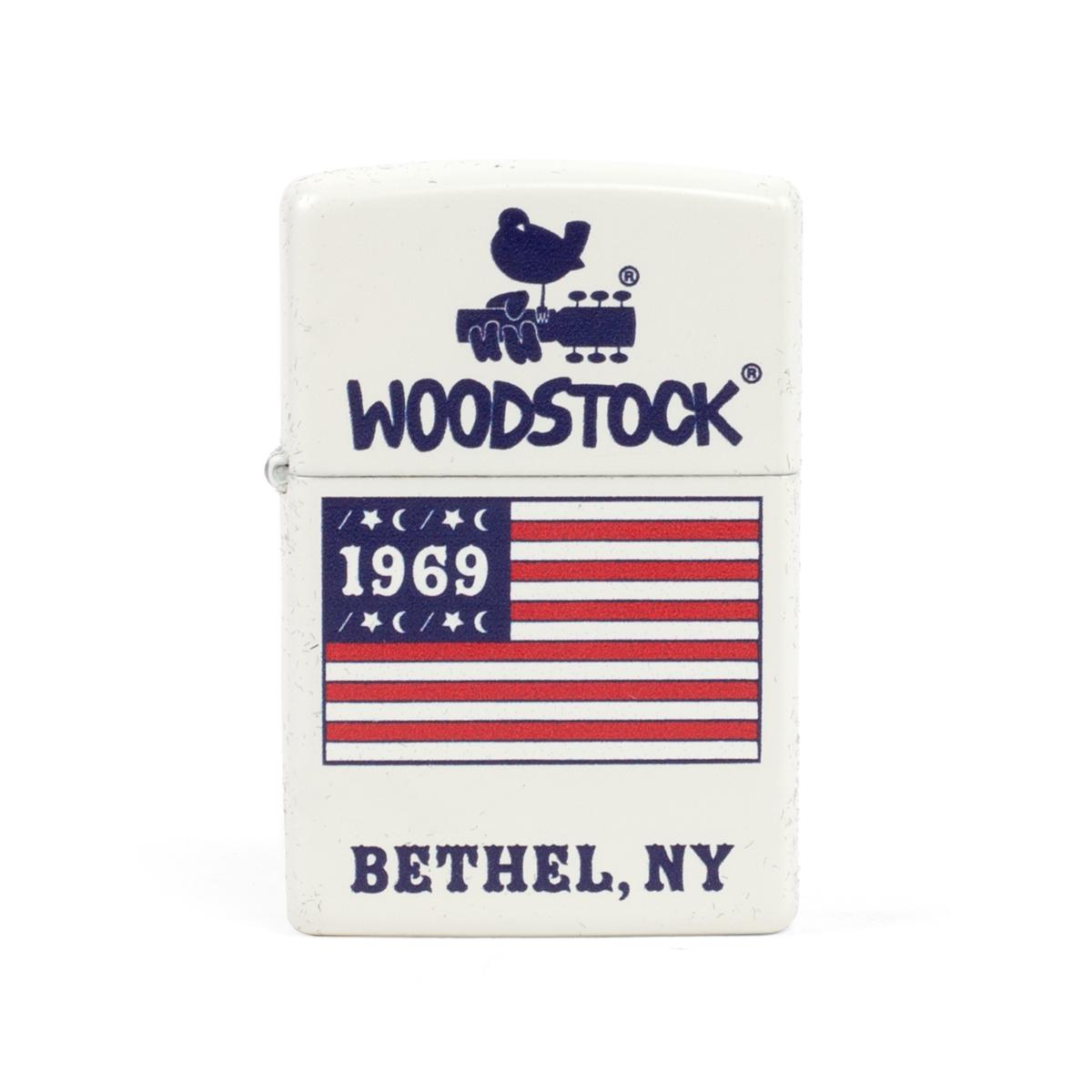 Woodstock Bethel, NY American Flag Logo Zippo