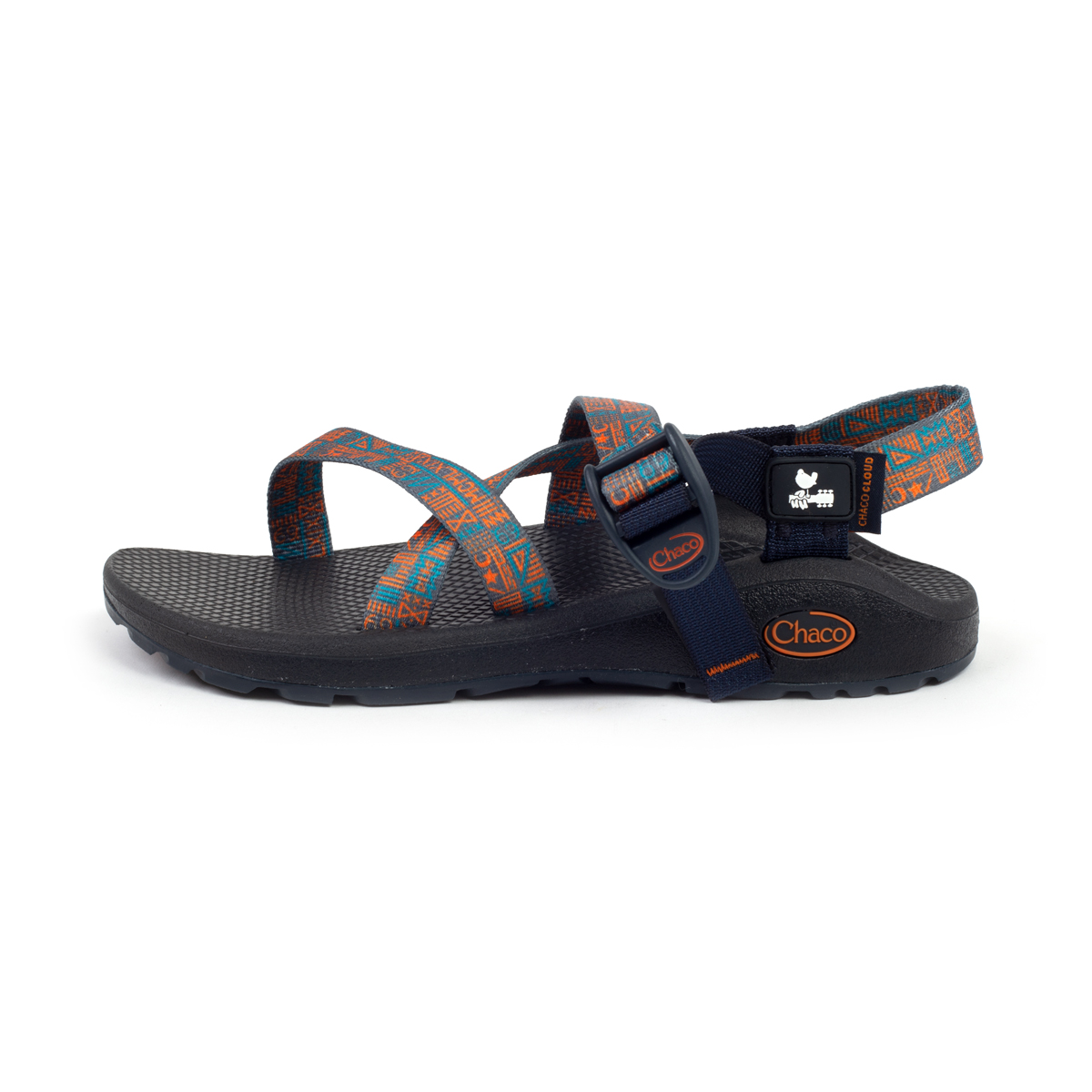 "Woodstock ""New Native Blue"" Womens Z Cloud Chaco Sandals"