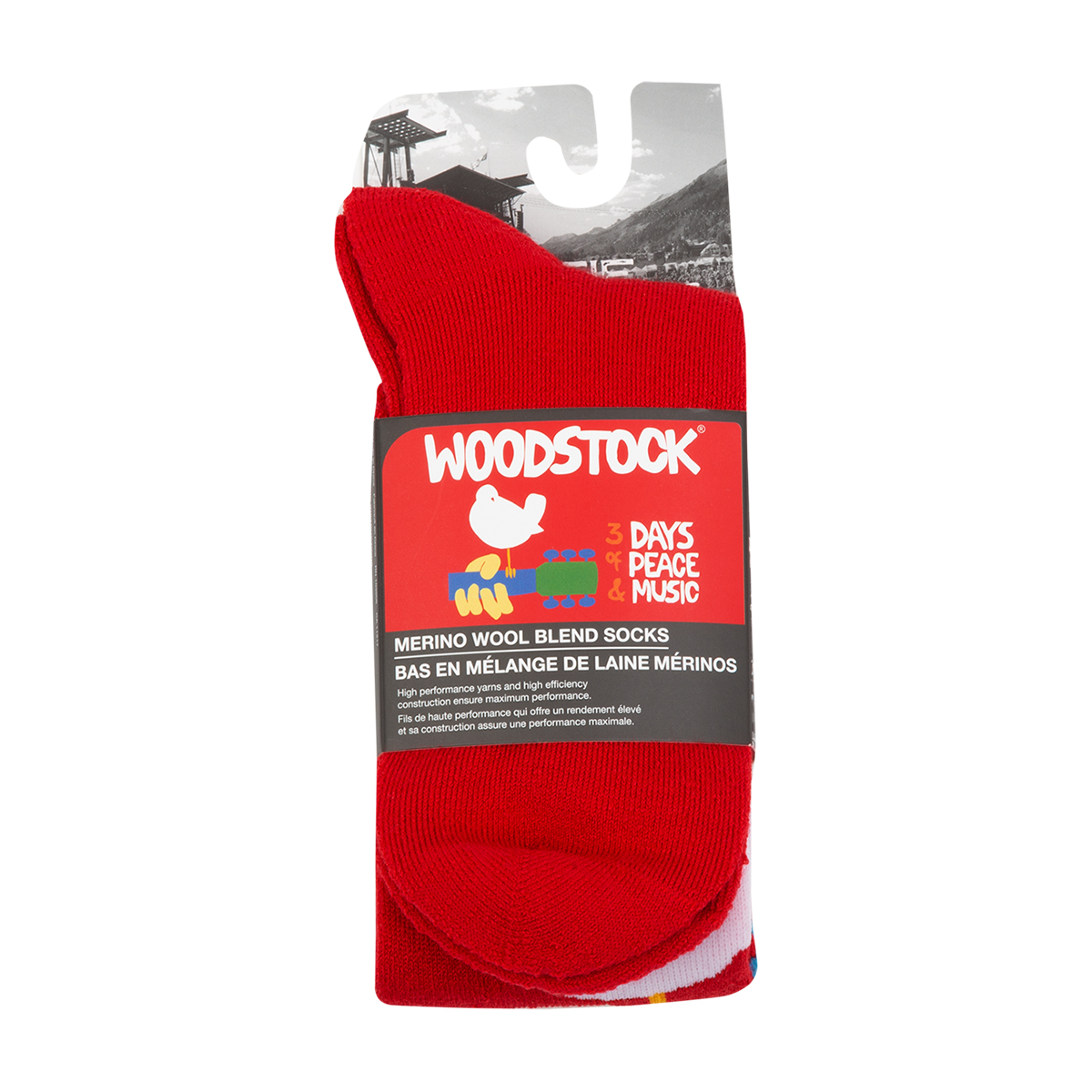 Woodstock 3 Days of Peace Wool Socks