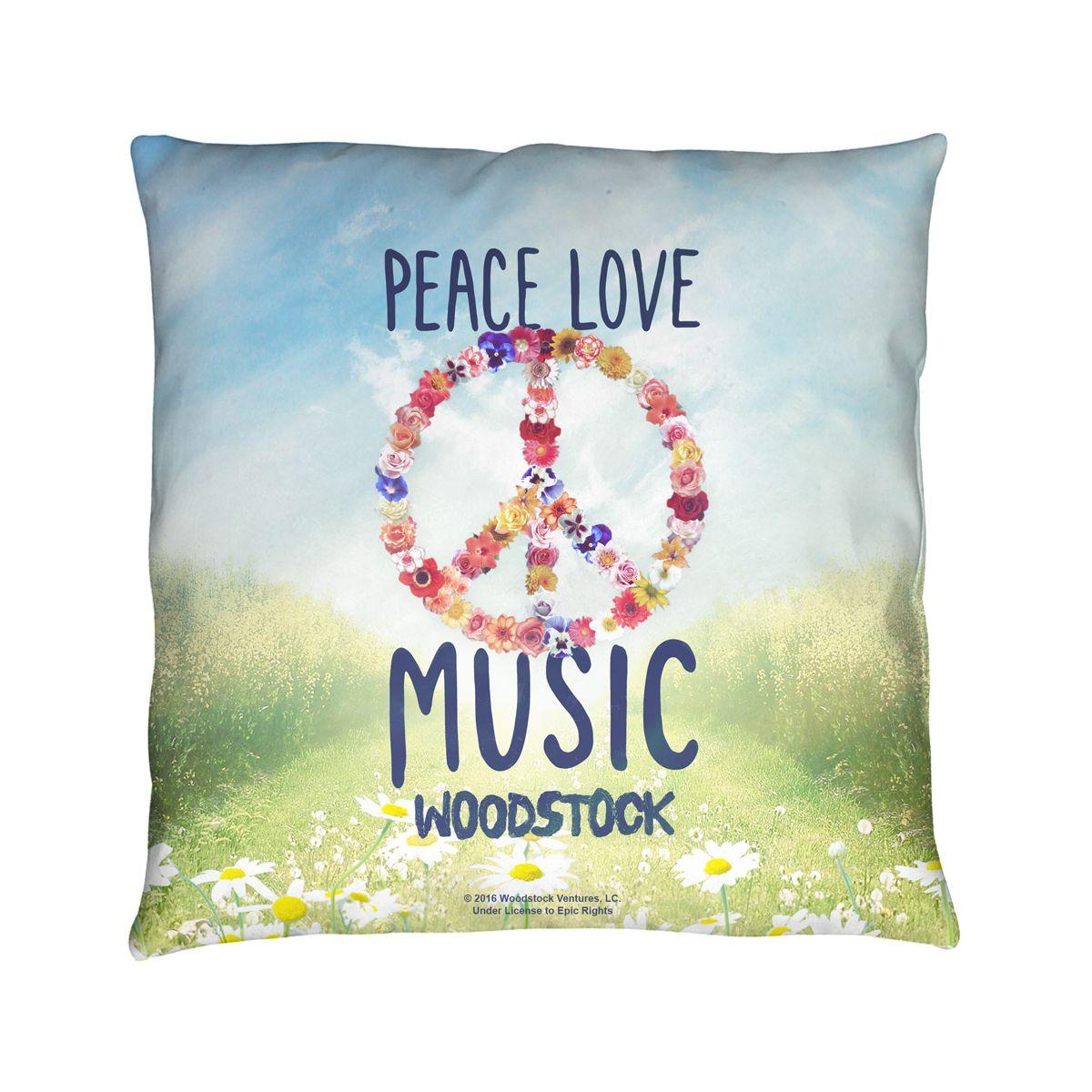 Woodstock Open Love Throw Pillow