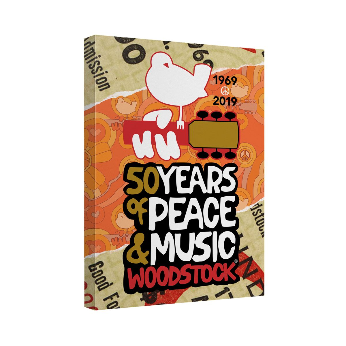Woodstock 50 year ticket canvas wall art