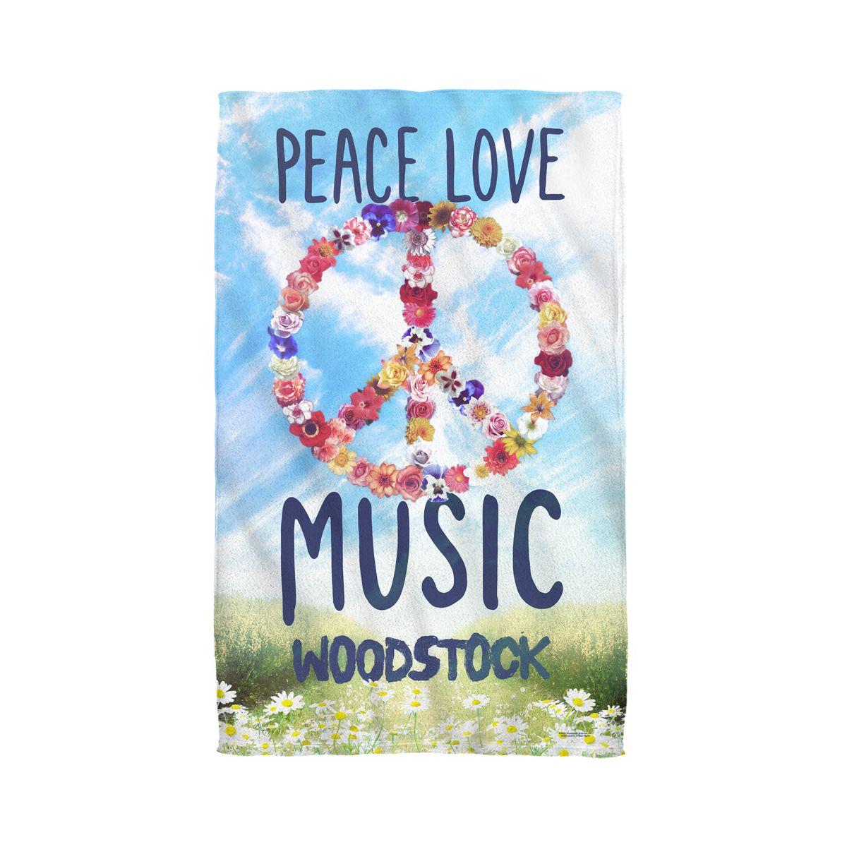 Woodstock Open Love Golf Towel