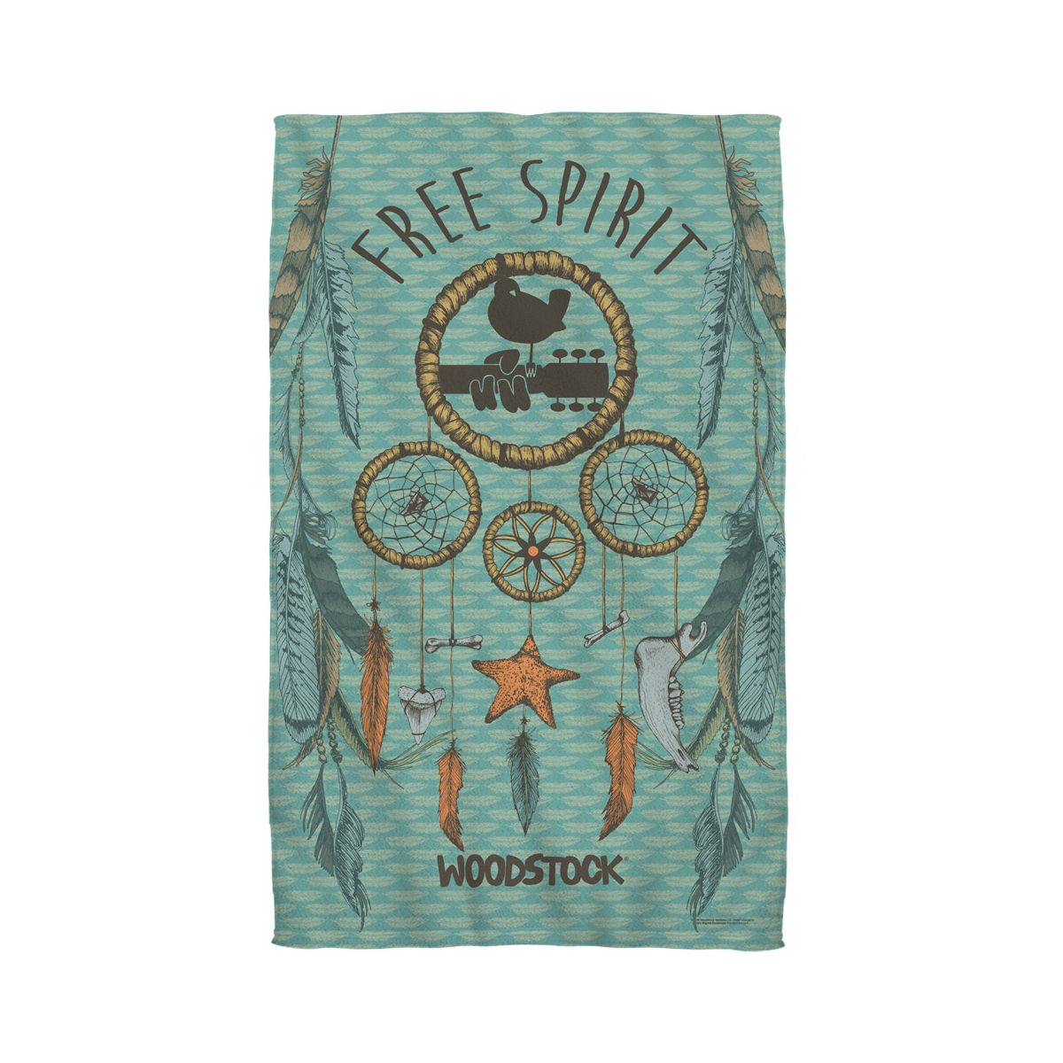 Woodstock Feathers Golf Towel