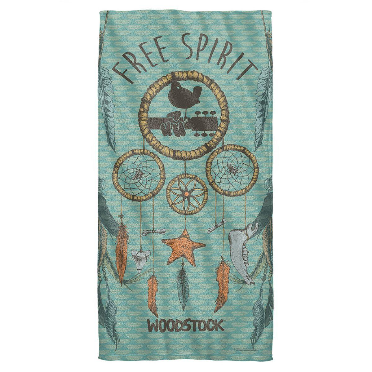 Woodstock Feathers Beach Towel