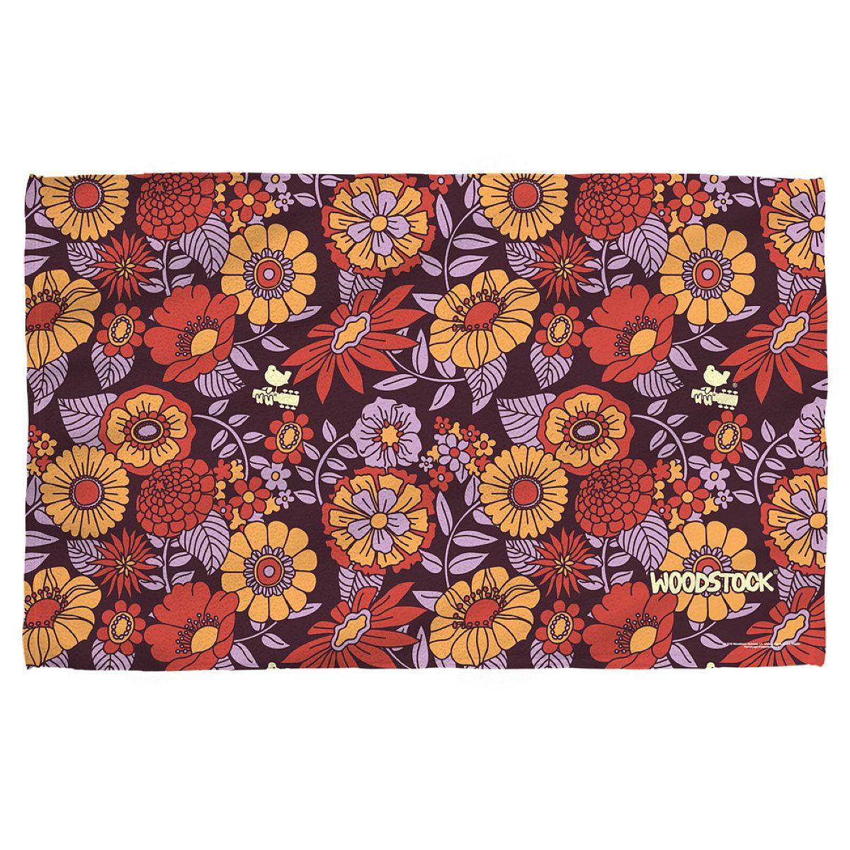 Woodstock Flower Set Bath Towel
