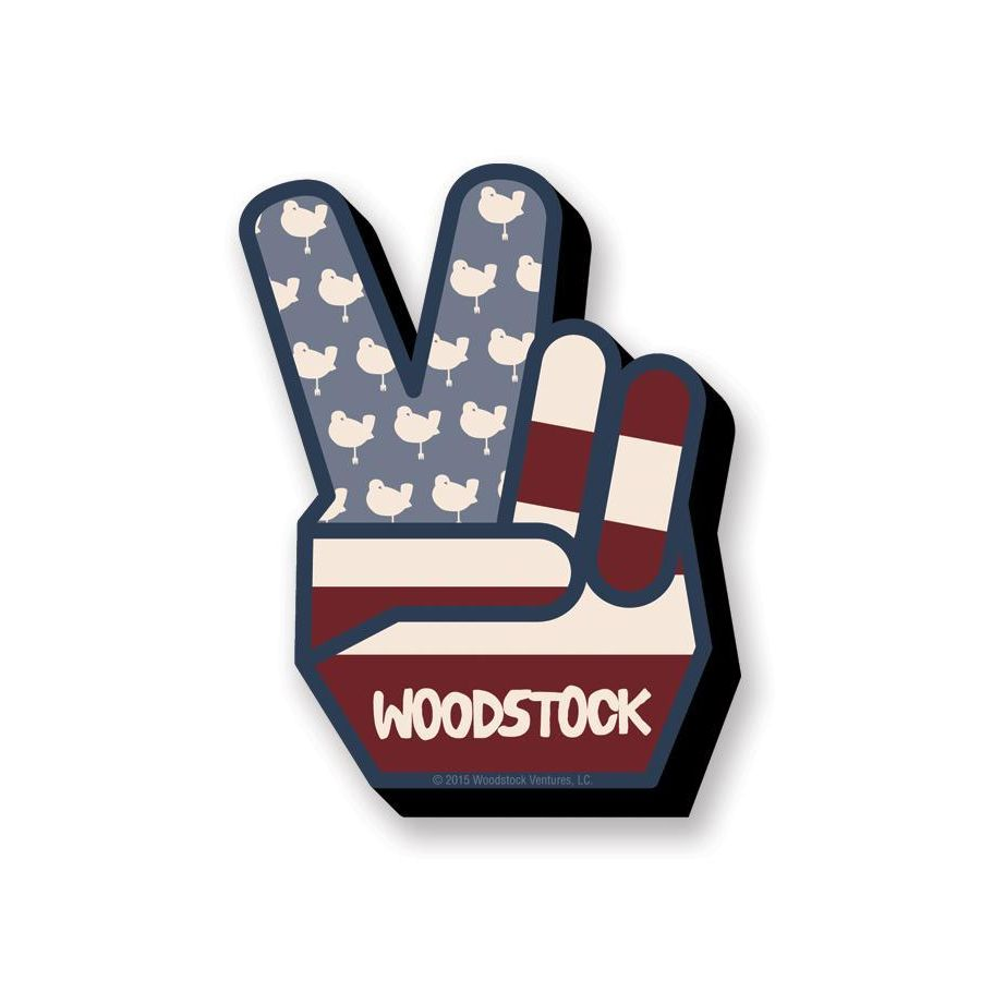 Woodstock Peace Funky Chunky Magnet