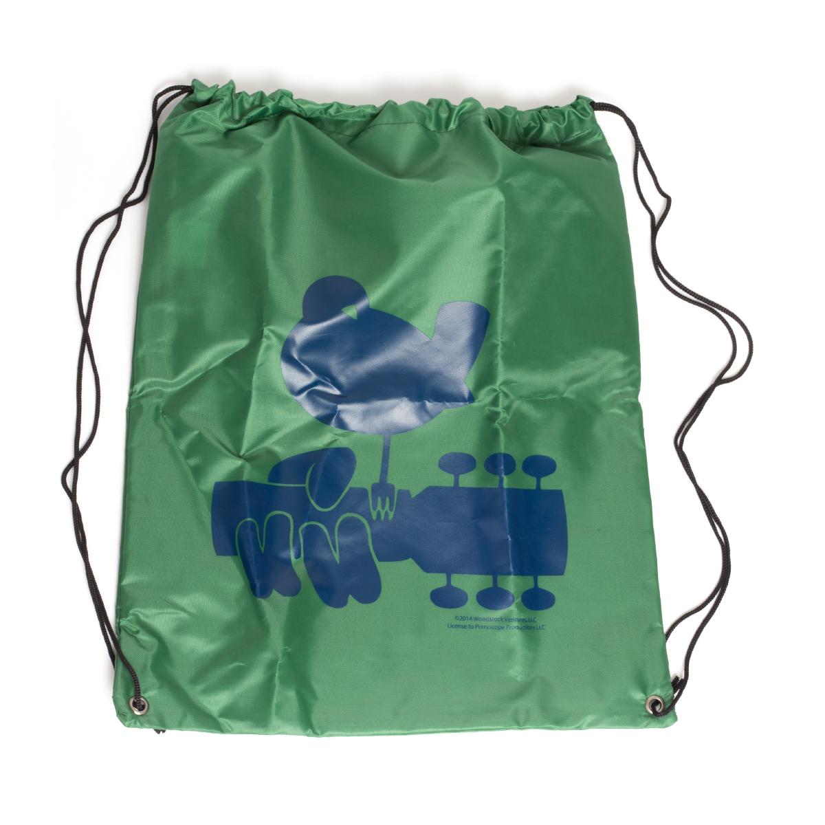 Green Drawstring Dove Bag