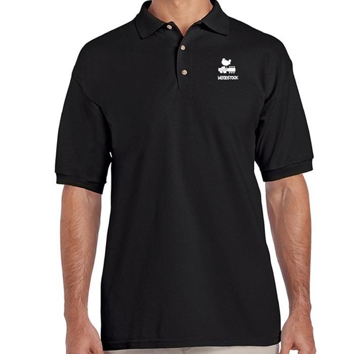 Bird & Guitar White Logo Polo Shirt