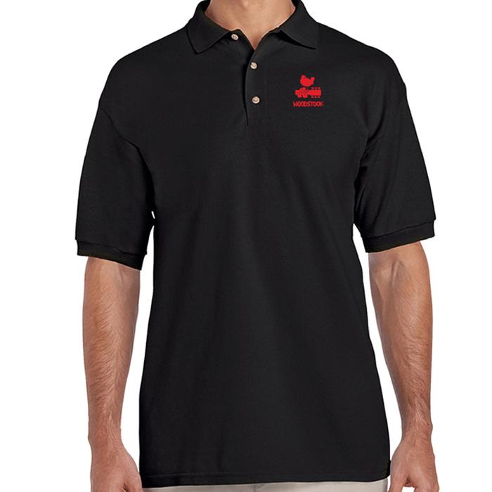 Bird & Guitar Red Logo Polo Shirt