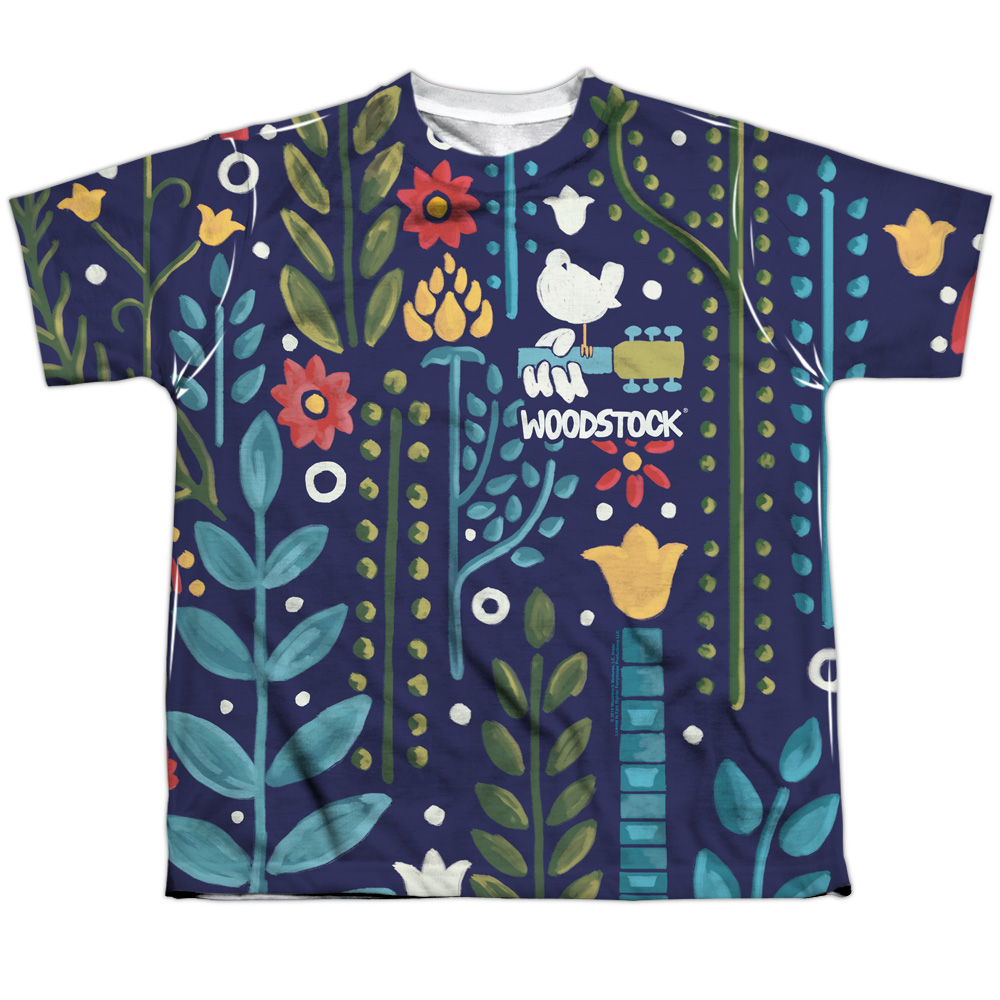 Youth Woodstock Floral Pattern