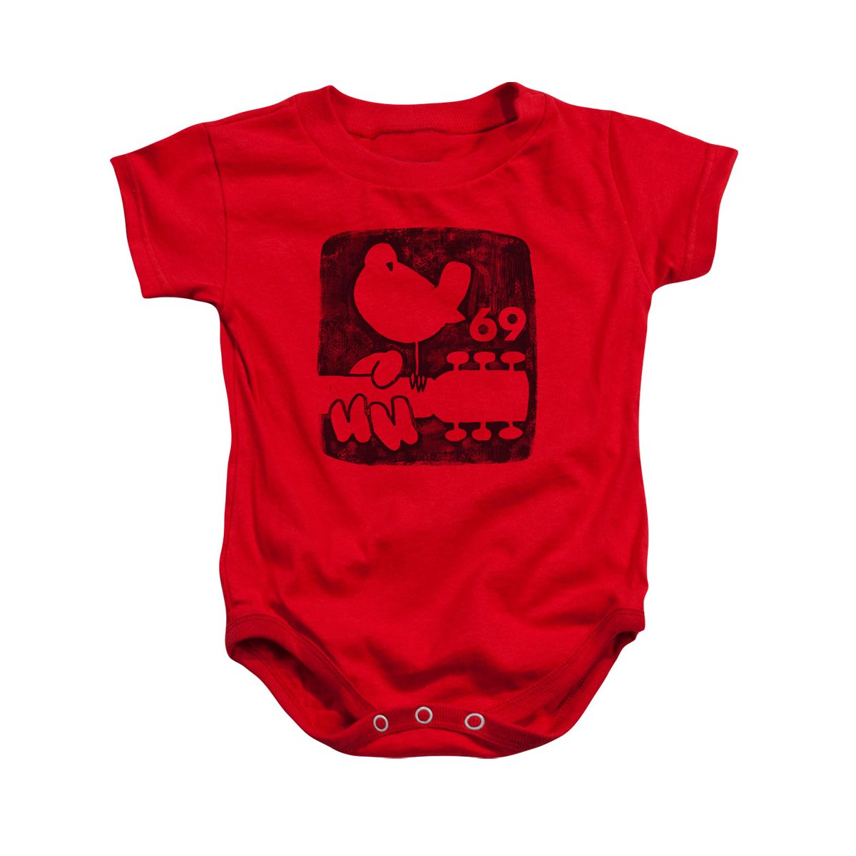 Woodstock Summer 69 Red Infant Snapsuit