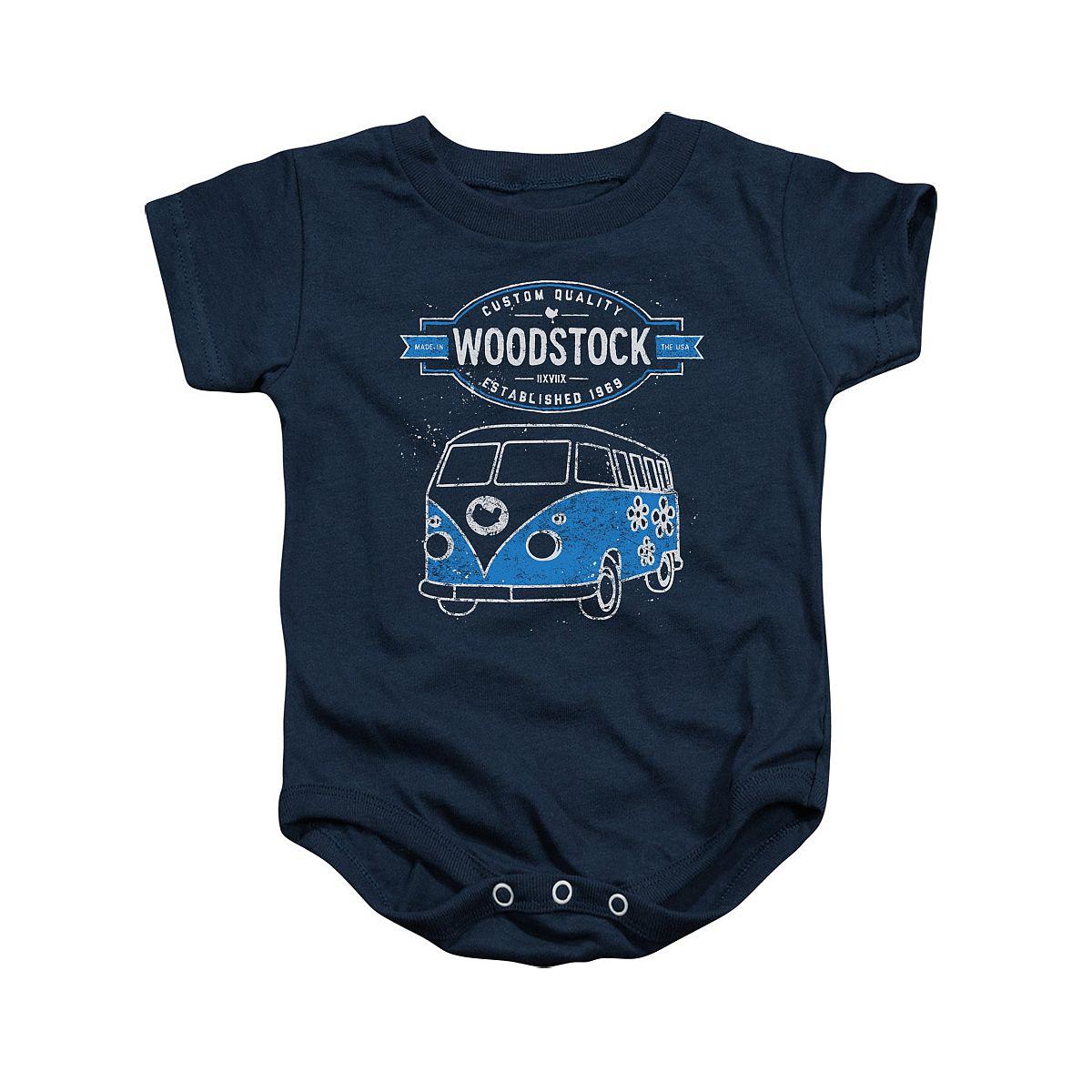 Woodstock Van Logo Navy Infant Snapsuit