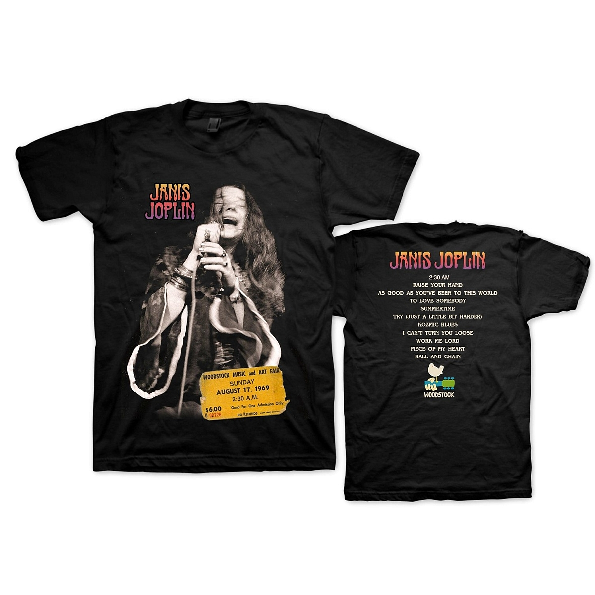 Janis Live at Woodstock T-shirt