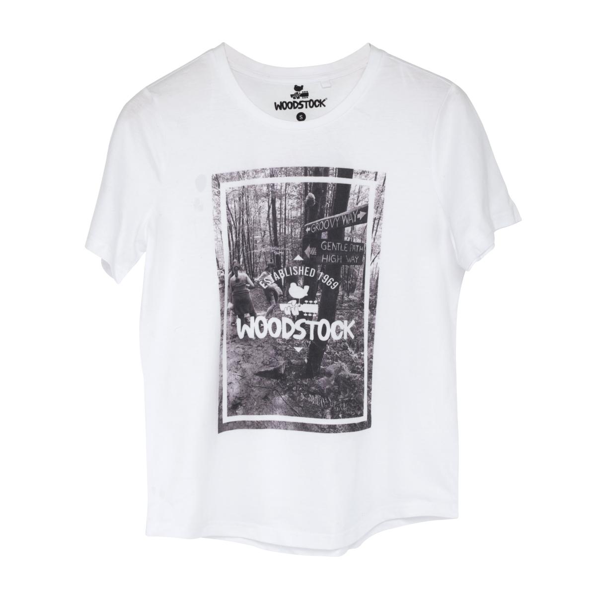 Woodstock 1969 Groovy Way Photo White T-Shirt
