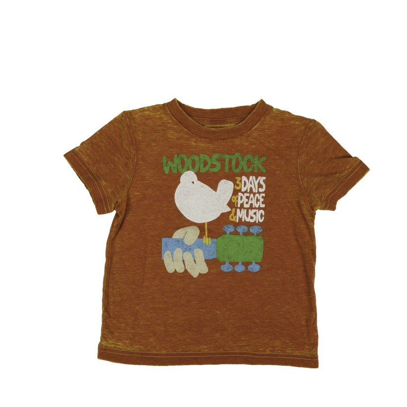 Toddlers Burnt Orange Dove & Guitar T-Shirt