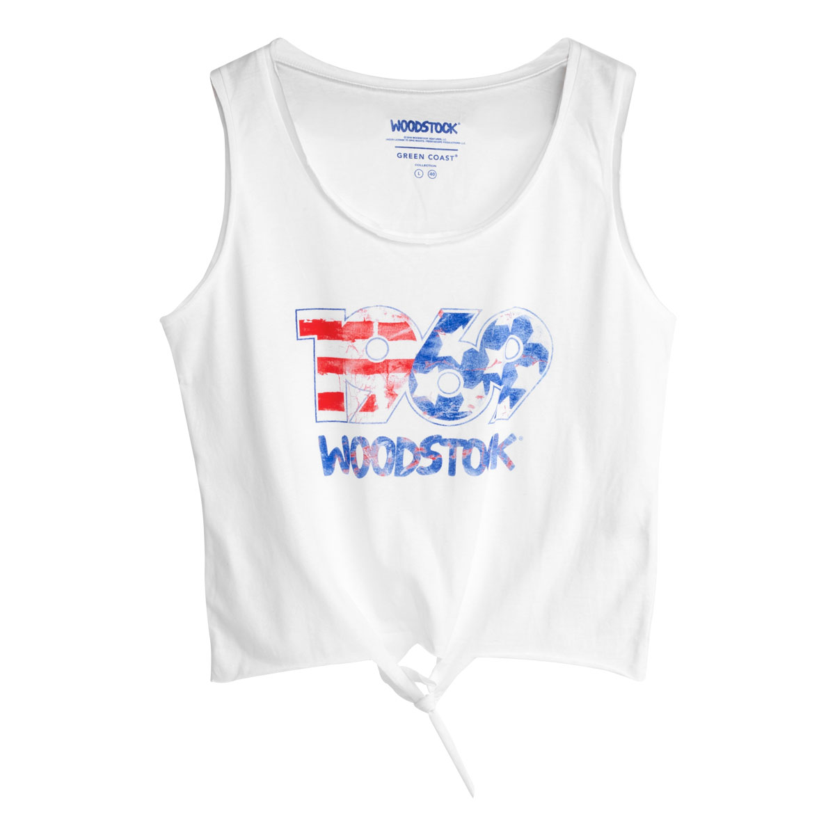 Woodstock 1969 Youth White Tank Top