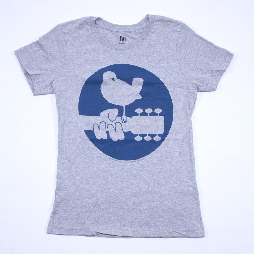 Girls Blue Circle Dove Logo T-Shirt