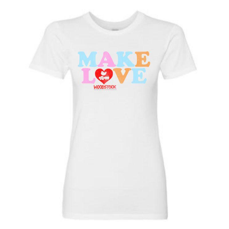 Women's Make Love Heart T-Shirt