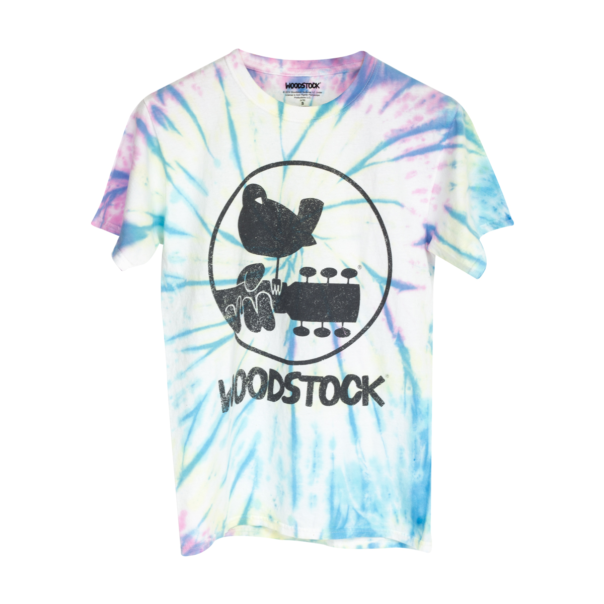 Woodstock Circular Logo Tie Dye T-Shirt