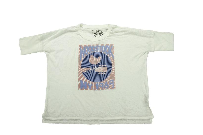 NY '69 Rising Sun Cropped T-Shirt