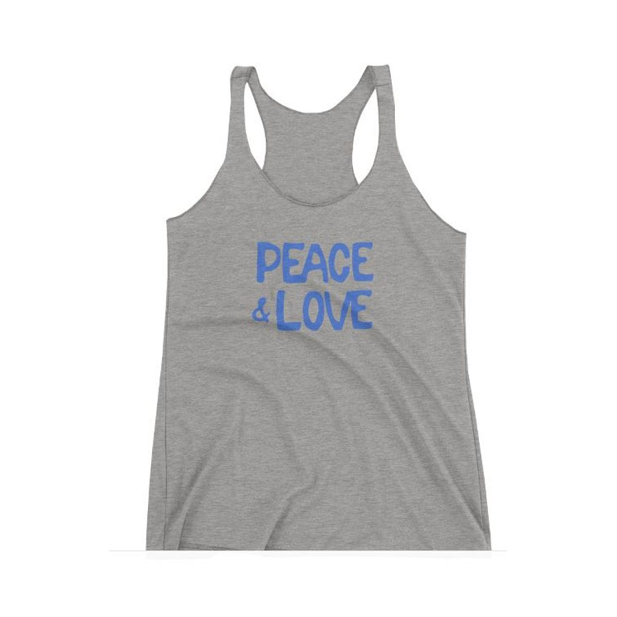 Peace & Love Heather Racer Tank