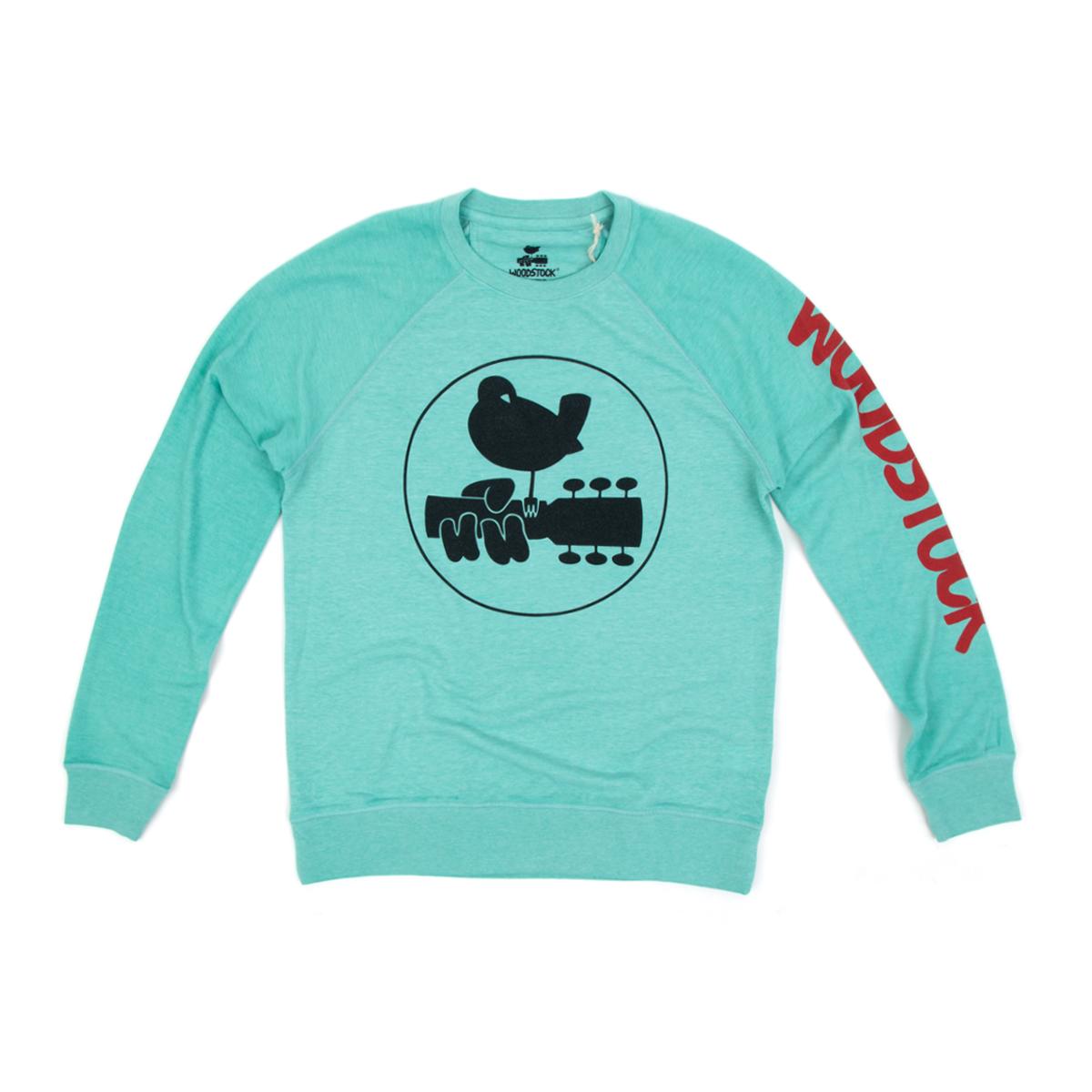 Woodstock Turquoise Classic Logo Long Sleeve T-Shirt