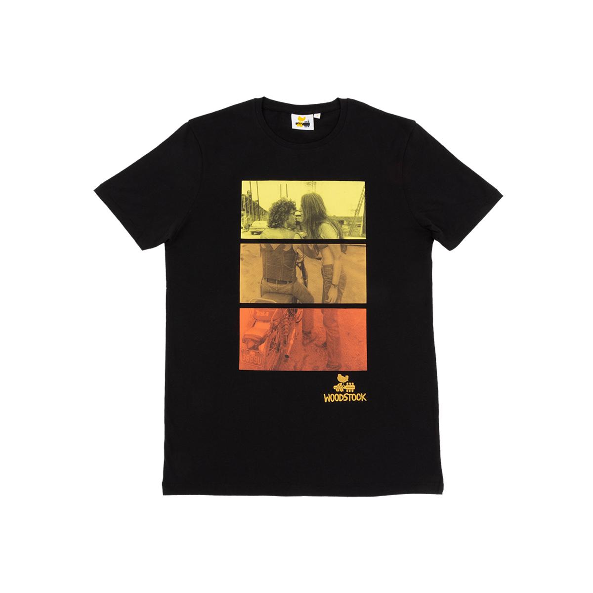 Woodstock Gradient Motorcycle Couple T-shirt